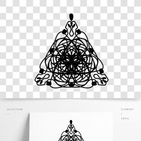三角形蕾絲的插畫