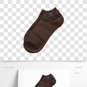 一雙棕色男士夏季短襪