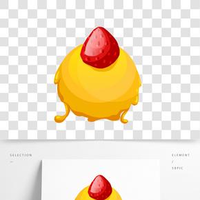 水果裝飾小吃插圖
