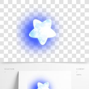 蓝色的天空星星插画