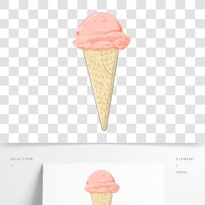 甜美冰激凌插畫