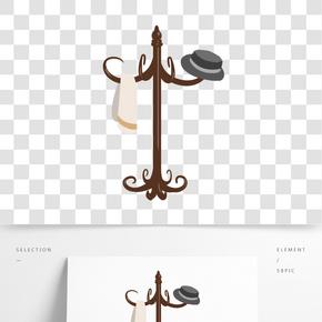 紅木家具衣架插畫