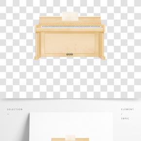 精美淡黃色鋼琴