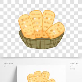 甜品甜點面包插畫