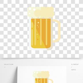 泡沫啤酒杯子插畫
