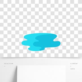 白色的液體水免摳圖