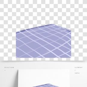 紫色方格創意床單元素