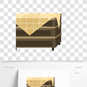 灰色立體創意盒子元素