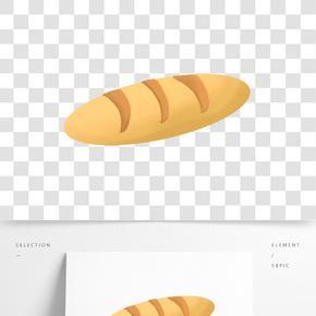 美味食物面包插畫