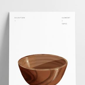 木質飯碗卡通餐具