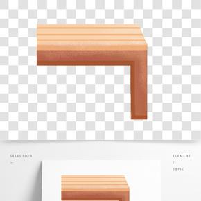 手繪卡通木紋桌子免扣元素