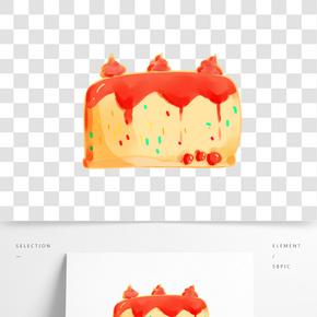 美味果醬蛋糕插畫