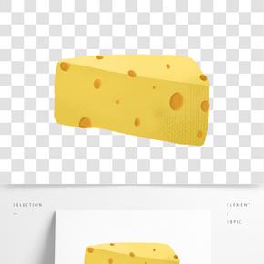奶酪甜點食物插畫