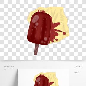 美味巧克力雪糕插畫