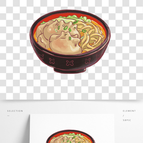紅燒牛肉湯面插畫