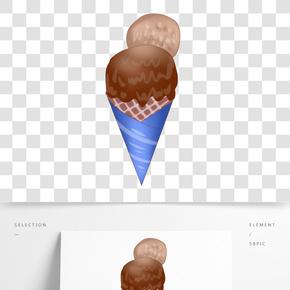 巧克力冰淇淋插畫