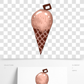 奶油甜點雪糕插畫
