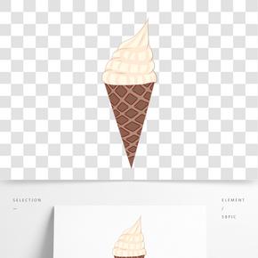 蛋筒冰淇淋冷飲插畫