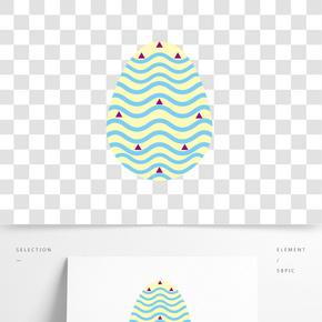 波浪藍色三角彩蛋