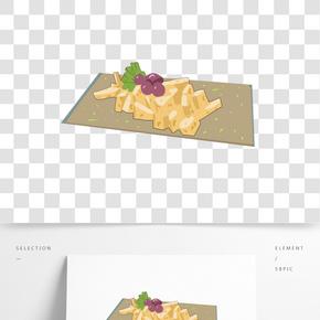 小吃美食卡通食物