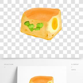 夾心面包甜點插畫