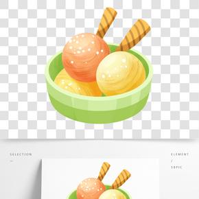 冷飲彩色雪球插畫