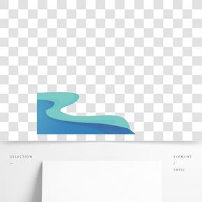 藍色的波浪免摳圖