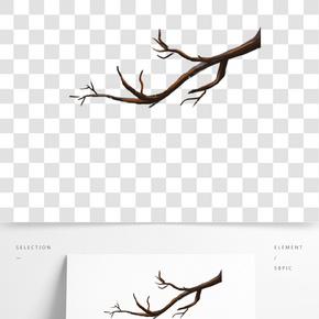 灰色創意植物樹干元素