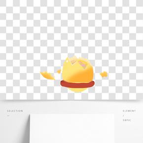 黃色的金蛋免摳圖