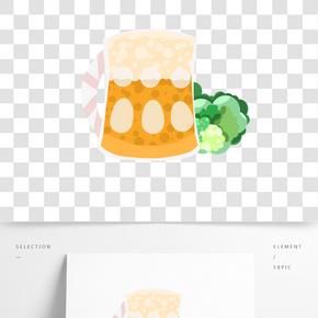 泡沫啤酒酒杯插畫