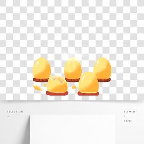 一堆黃色的金蛋免摳圖