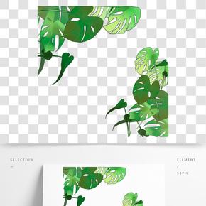 綠色植物葉子裝飾元素