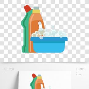 彩色創意清潔泡沫元素