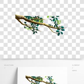 綠色植物創意樹葉元素