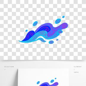 炫美海浪插畫