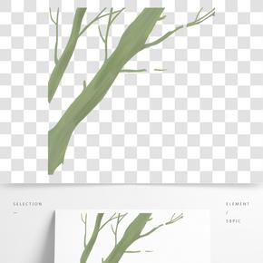 灰色創意紋理植物樹干元素