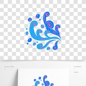 大海波浪插畫