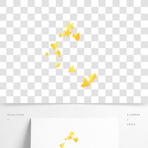 黃色植物花朵元素