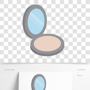 灰色圓弧創意鏡子元素