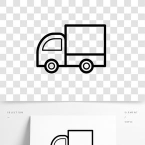 黑色創意貨車元素