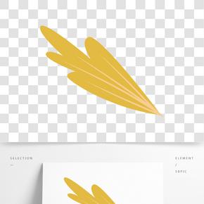 黃色創意葉子元素