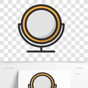 黃色圓弧鏡子元素