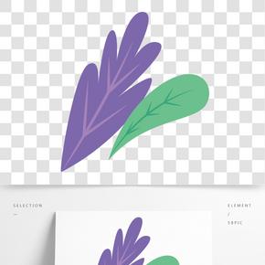 彩色植物樹葉元素