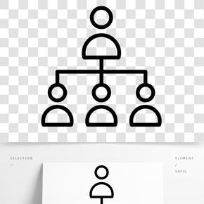 黑色創意組織架構元素