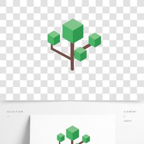 綠色植物大樹元素