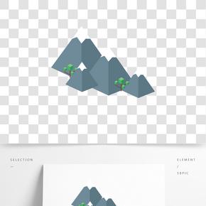 灰色幾何創意遠山元素