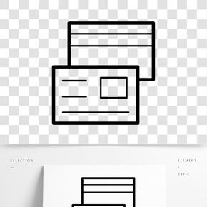黑色創意商務文件元素