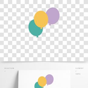 彩色創意圓弧氣球元素
