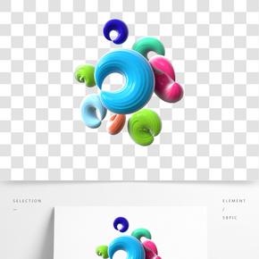 C4D立体炫酷时尚圆环
