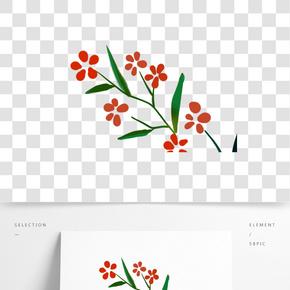 彩色植物花朵元素